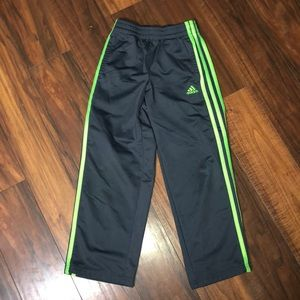 Adidas Sweatpants Gray and Lime Green Sz. 7